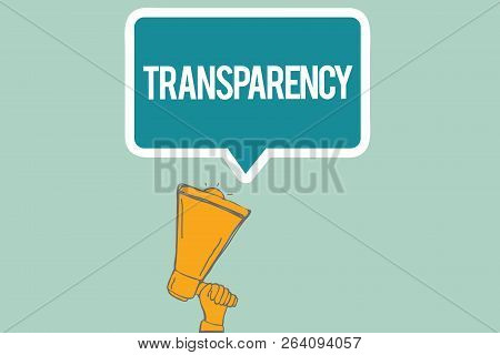 Conceptual Hand Writing Showing Transparency. Business Photo Text Condition Being Transparent Clear