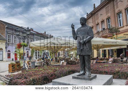 The Statue Of Jasa Tomic In Novi Sad, Serbia