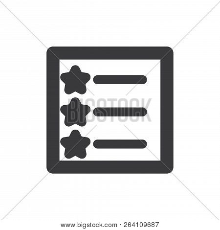 Favorites List Vector Icon On White Background. Favorites List Icon In Modern Design Style. Favorite