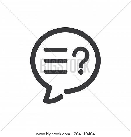 Support Speech Bubble Vector Icon On White Background. Support Speech Bubble Icon In Modern Design S