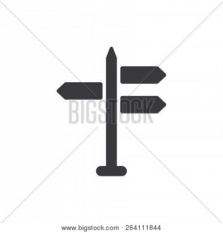 Direction Signs Vector Icon On White Background. Direction Signs Icon In Modern Design Style. Direct