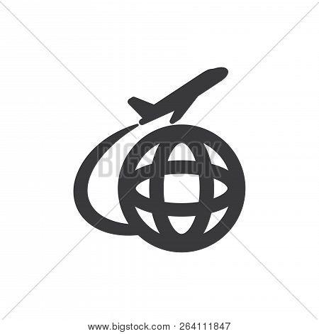 International Departures Vector Icon On White Background. International Departures Icon In Modern De