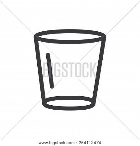Empty Glass Vector Icon On White Background. Empty Glass Icon In Modern Design Style. Empty Glass Ve