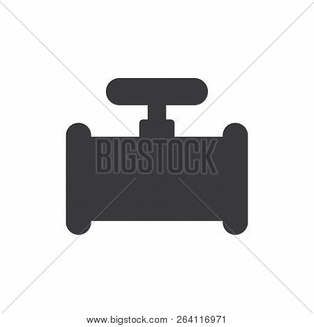 Industrial Pipe Vector Icon On White Background. Industrial Pipe Icon In Modern Design Style. Indust