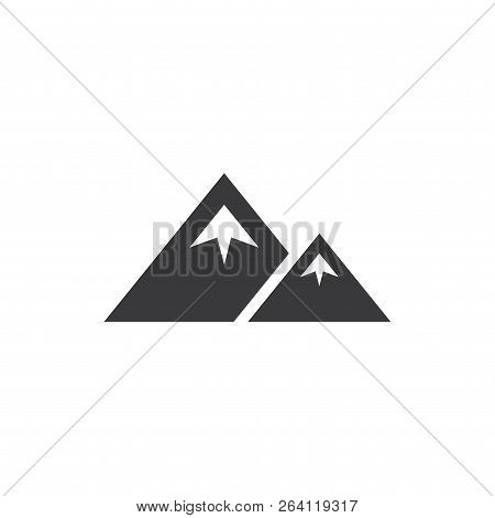 Mountain Range Vector Icon On White Background. Mountain Range Icon In Modern Design Style. Mountain