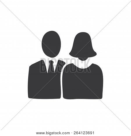 Man, Woman Vector Icon On White Background. Man, Woman Icon In Modern Design Style. Man, Woman Vecto