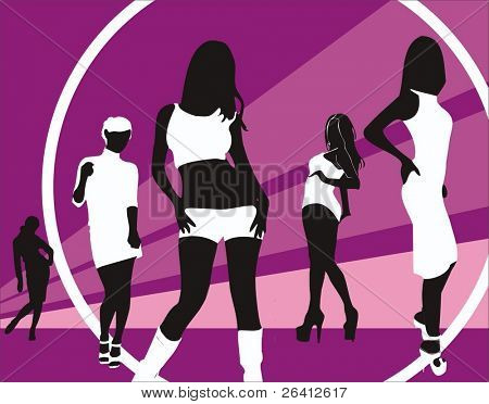 woman silhouettes,vector