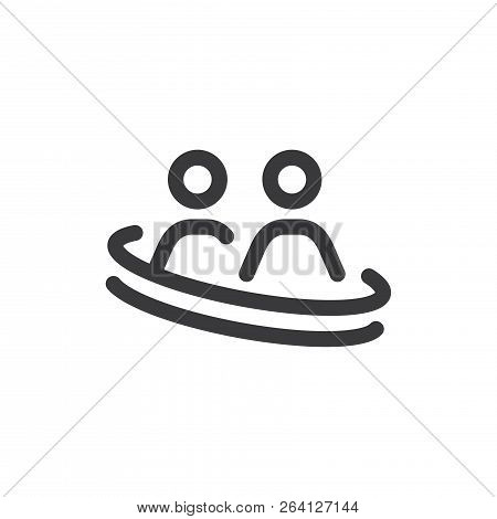 Social Relations Vector Icon On White Background. Social Relations  Icon In Modern Design Style. Soc
