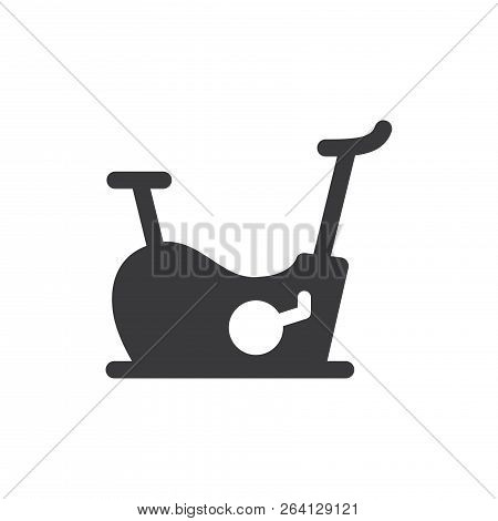 Stationary Bike Vector Icon On White Background. Stationary Bike Icon In Modern Design Style. Statio