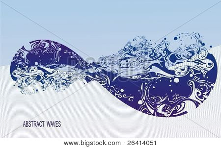 waves, abstract design,vector illustration