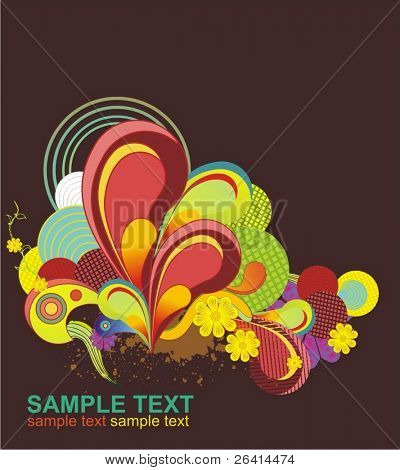 decorative colorful abstract design,vector