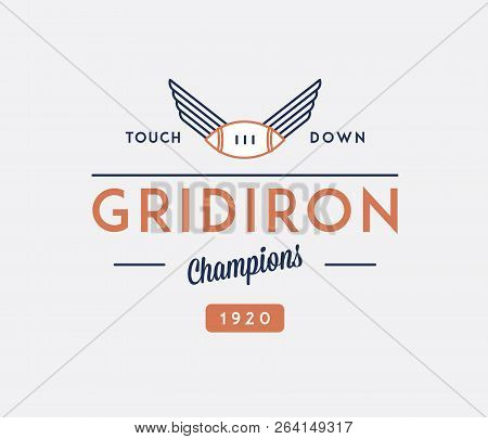 American Football Gridiron Touchdown Is A Vector Illustration About Sport