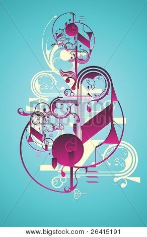 modern abstract poster design with beautiful organic shapes