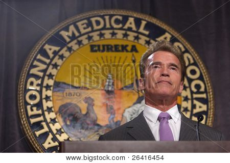 Governor Arnold Schwarzenegger at the California Medical Association lunchin