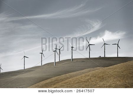 Wind turbines in the foothills