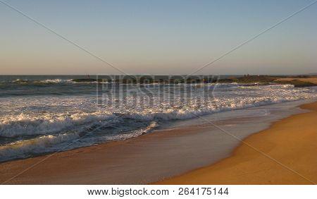 A Deserted Dawn On Cavaleiros Beach At Dawn, Macae, Rj, Brazil