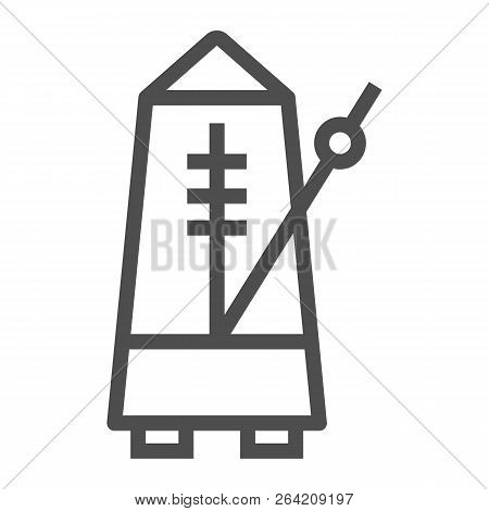 Metronome Line Icon, Musical And Tempo, Equipment Sign, Vector Graphics, A Linear Pattern On A White