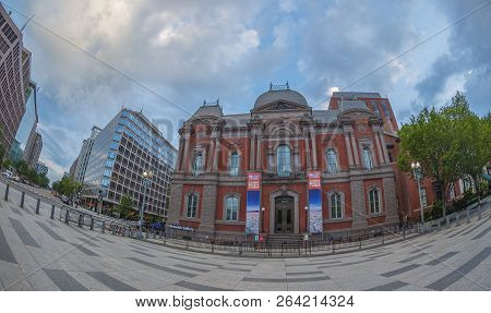 Washington Dc, Usa - August 31, 2018: Large Angle View At Renwick Gallery Of The Smithsonian America