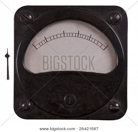 old-fashioned electric voltmeter
