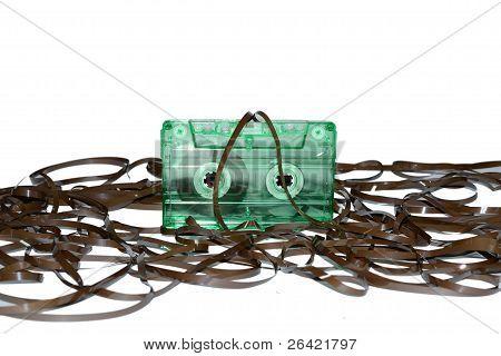 cassette on magnetic tape