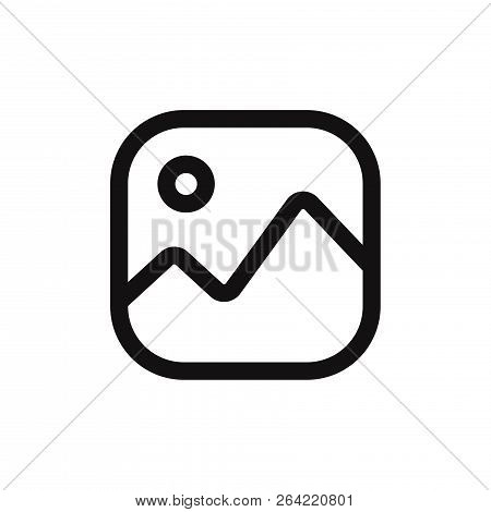 Image Icon Isolated On White Background. Image Icon In Trendy Design Style. Image Vector Icon Modern