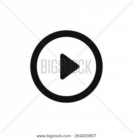 Play Icon Isolated On White Background. Play Icon In Trendy Design Style. Play Vector Icon Modern An