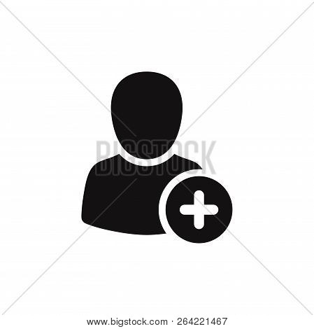 Add New User Icon Isolated On White Background. Add New User Icon In Trendy Design Style. Add New Us