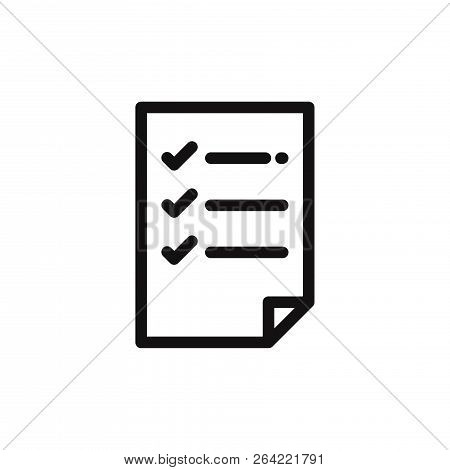 List Icon Isolated On White Background. List Icon In Trendy Design Style. List Vector Icon Modern An