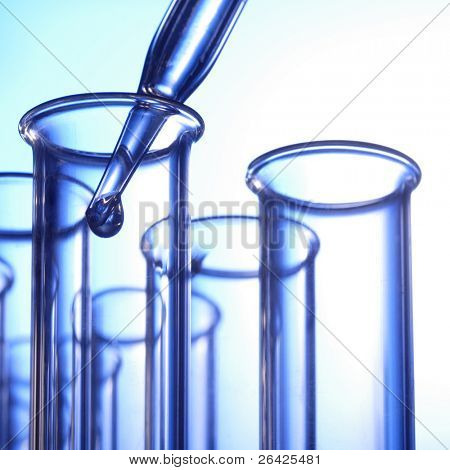 test tubes and dropper