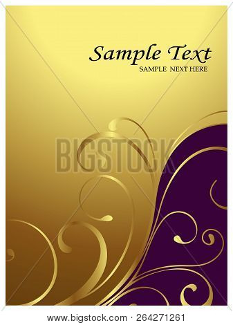 Invitation Card, Abstract Floral Background. Vector Illustration.