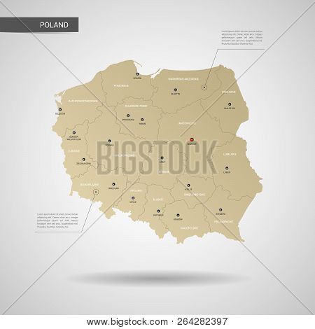 Capital Of Poland Map.Stylized Vector Vector Photo Free Trial Bigstock
