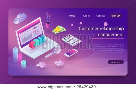 Customer Relationship Management Crm Concept. Customer Relationship Management Concept Background. C