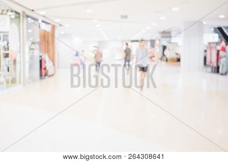 Abstract Shopping In Mall Store Blurred Background