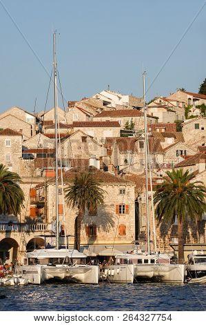 Hvar, Croatia, July 26, 2018: Hvar Is A City And Port On The Island Of Hvar, Part Of Split-dalmatia