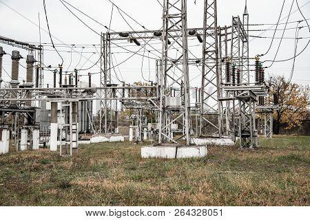 Transformer substation, high-voltage switchgear and equipment, volt poster