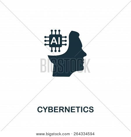 Cybernetics Icon. Premium Style Design From Artificial Intelligence Icon Collection. Ui And Ux. Pixe
