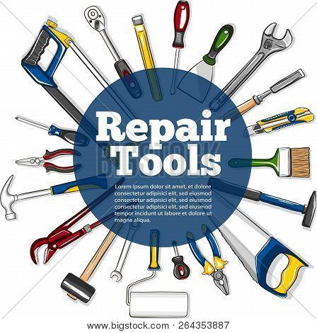 repair tools banner vector & photo (free trial)   bigstock  bigstock