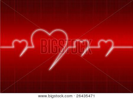 vector of heart's cardiogram