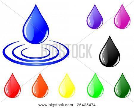 Vector of color drops