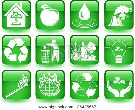 Vector of environmental icons set