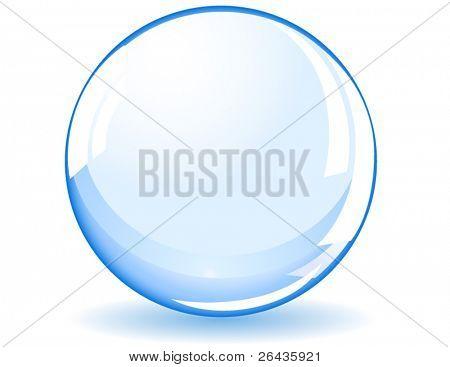 blue shiny ball