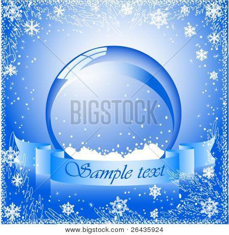 vector of snow globe