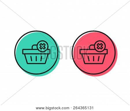 Remove Shopping Cart Line Icon. Online Buying Sign. Supermarket Basket Symbol. Positive And Negative
