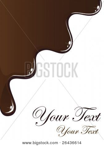 card with melted chocolate