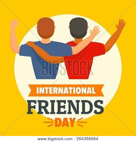 International Friends Day Concept Background. Flat Illustration Of International Friends Day Vector
