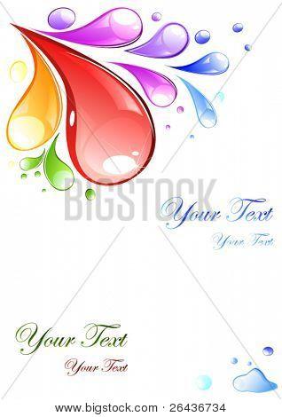 multicolored drops on a card
