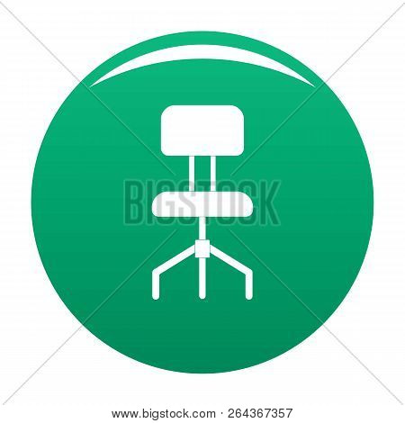 Hard Chair Icon. Simple Illustration Of Hard Chair Vector Icon For Any Design Green