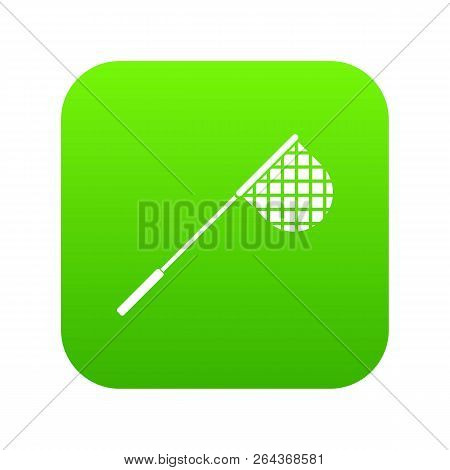 Fishing Net Icon Digital Green For Any Design Isolated On White Vector Illustration