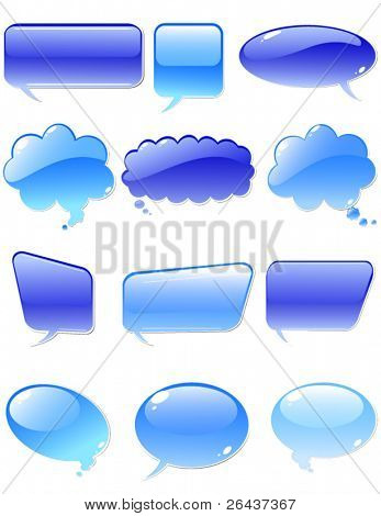 Set of water chat elements