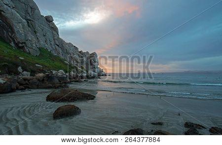 Sunset At Morro Rock On The Central Coast Of California At Morro Bay California United States